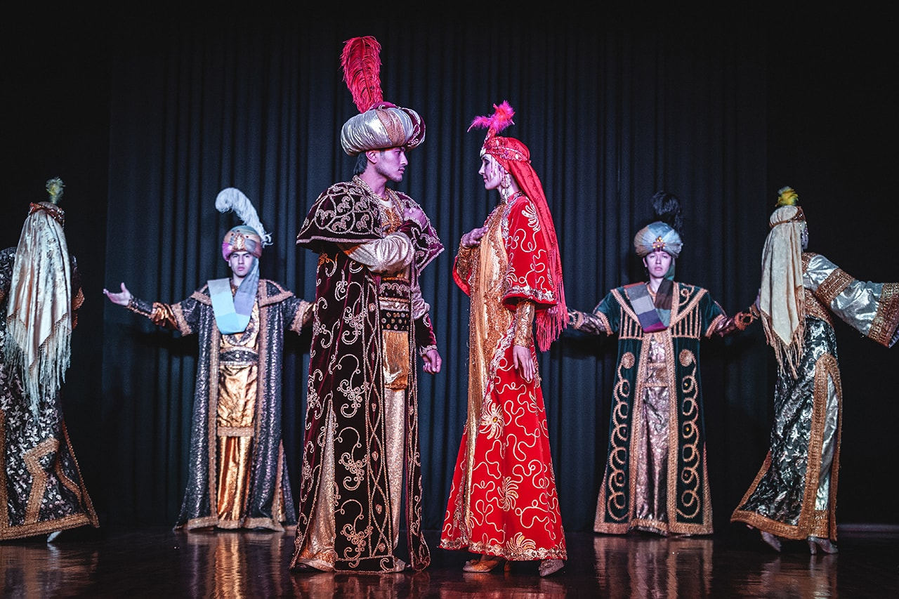 Ethnic dance performers in Samarkand, Uzbekistan.