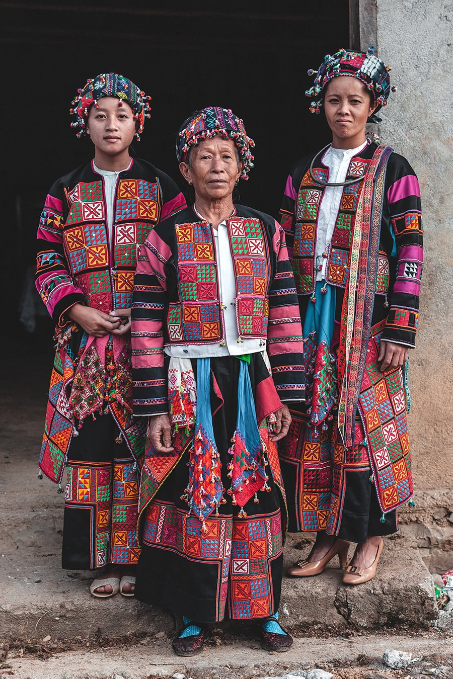 Women from the Lolo minority in Meo Vac, Vietnam