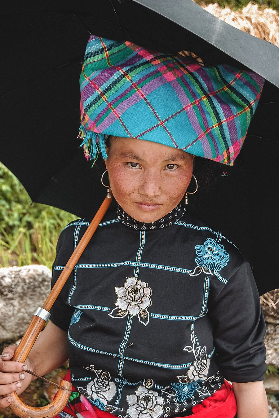 Flower Hmong woman in Sapa