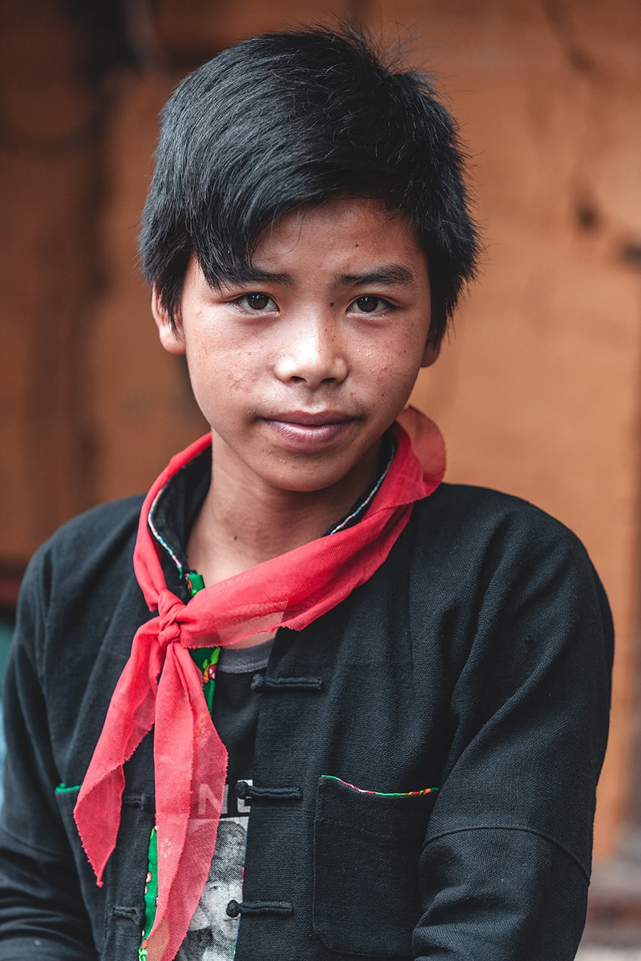 A Red Dao boy in Ha Giang.