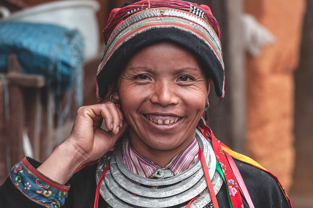 Red Dao woman in Ha Giang, Vietnam