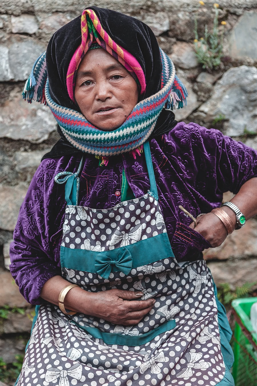 Hmong woman at the Xa Phin market in Dong Van.