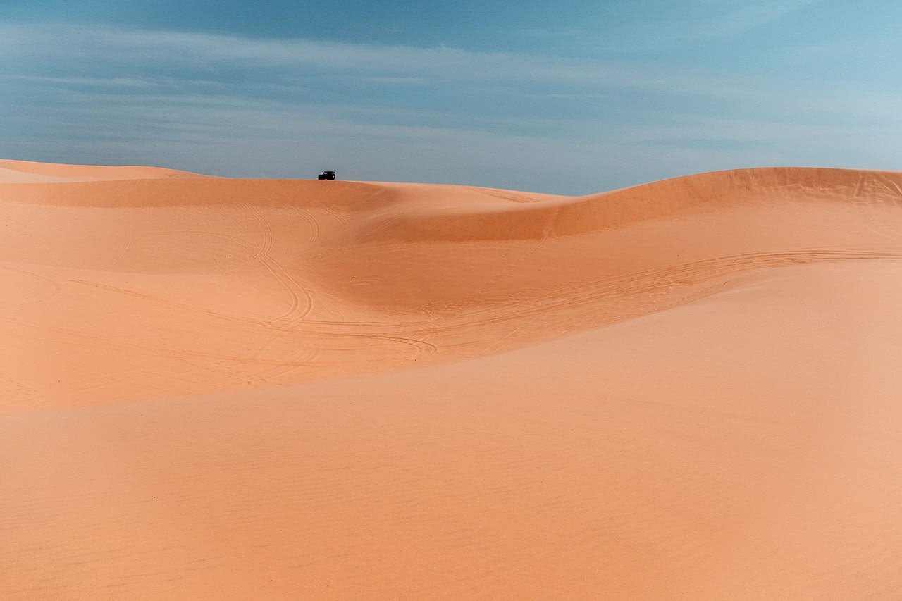 The red sand dunes of Mui Ne, VIetnam.